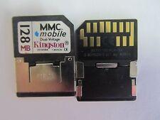10 x Kingston 128MB RS-MMC Card MMC DV 128MB RS MMC 13pins
