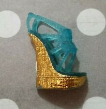 MONSTER HIGH DOLL SHOE 13 WISHES FRANKIE STEIN SINGLE RIGHT BLUE SANDAL HEEL