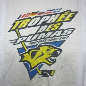 TROPHEE DES PUMAS hockey T shirt Fontenay Sous Bois med tee France tournament