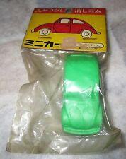 Vintage 70s Mitsubishi Pencil VW Beetle Car Keshigomu Eraser Green MIP Japan