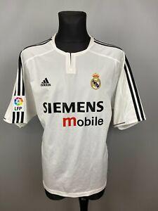 REAL MADRID 2003 2004 HOME SHIRT FOOTBALL SOCCER JERSEY ADIDAS 021804 SIZE 2XL