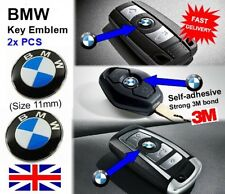 2X BMW Remote / key Fob Emblems / Badges 11mm 1 3 4 5 6 7 X1 X2 E90 E46 F10 3M
