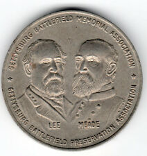 Gettysburg Battlefield Memorial Assoc. LEE & MEADE Centen. Award Medal 1863-1963