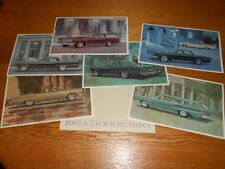 1964 DODGE 880 ORIGINAL 6 Print PORTFOLIO BROCHURE, 64 SALES CATALOG