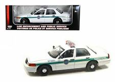 MOTOR MAX 1:18 2001 FORD CROWN VICTORIA BORDER PATROL Police Diecast Car 73513