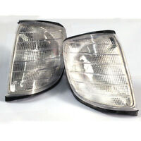 Pair Euro Corner Signal Light Clear for Depo 92-99 Mercedes Benz S Class W140