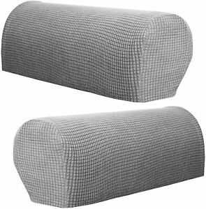 Pairs Removable Armchair Arm Covers Stretch Sofa Arm Caps Armrest Covers UKstock