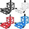 Mountain Road Bike Pedals MTB Wide Aluminum Flat Platform Sealed Bearings 9/16''