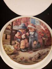 "Danbury Mint M J Hummel Little Companions Tender Loving Care 8"" Collector Plate"