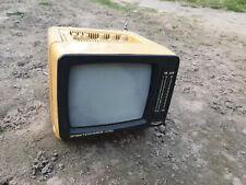 VINTAGE ELEKTRONIKA 409 D 5'' RUSSIAN TV portable 230V / 12V RARE! TELEVISION