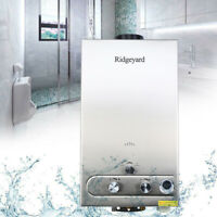 Ridgeyard 12L LPG Gas Propane Instant Tankless Hot Water Heater Boiler w/Shower