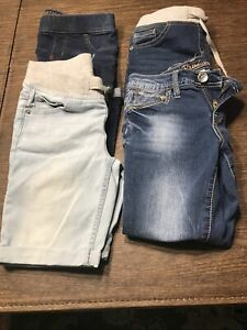 Justice girls size 10 lot of 4 Jeans and shorts
