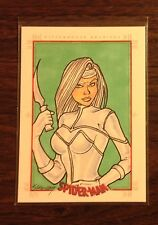 Silver Sable Spider-Man Archives color sketch card 1/1 Kristin Allen