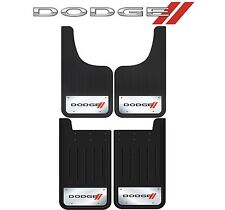"4 Pc Front & Rear Dodge Elite Mud Guards Heavy Duty 12"" X 23"" Stainless Steel"