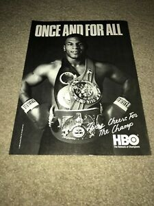 Vintage 1988 MIKE TYSON HBO BOXING Poster Print Ad *WINS WBA WBC IBF CHAMP*