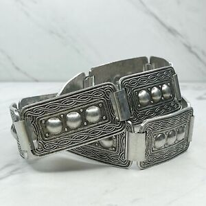 """Silver Tone Engraved Studded Concho Belly Body Chain Belt Size Small S 30"""""""