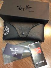 New Original OEM Ray Ban TECH Black Sunglasses or Eyeglasses Case & Original Box