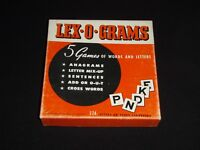 Vintage Lex-O-Grams Game No. 2933 by Whitman - Play 5 Word Games - Made in USA