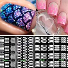 12Pcs /Sheet Nail Art Manicure Stencil Stickers Stamping Vinyls color Random