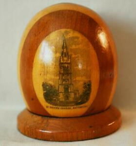 Mauchline Transfer Ware Dome Covered Inkwell 2 Woods St Peters Church Kettering