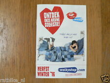 O255 BROCHURE WOLKY SHOP 2016 DUTCH 16 PAGES  SHOENEN SHOES VOLVO P144 ?