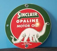 VINTAGE SINCLAIR GASOLINE PORCELAIN OPALINE DINO SERVICE STATION PUMP AD SIGN