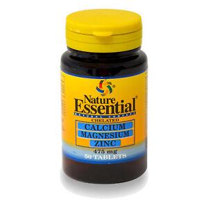 CALCIO + MAGNESIO + ZINC  475 mg. 50, 100, 150 o 250 Comprimidos -