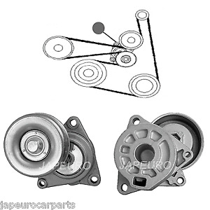 Fits Nissan X-Trail T30 01-06 Auxiliary Fan Belt Tensioner Idler Pulley