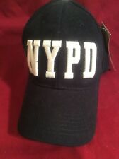 Nwt NYPD Black 100% Cotton Strap Back Baseball Hat New York Police