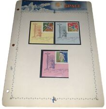 Space Exploration Stamps On Collectible Sheet USSR Lot 2