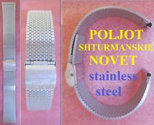cinturino poljot 3133 sturmanskie chronograph watch bracelet strap band s steel
