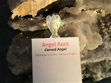 Angel in Angel Aura Quartz Carving -Guardians-Beings of Light+ Joy! Rainbows!