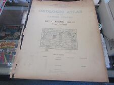 Antique - Geological Atlas Of The U.S - Buckhannon West Virginia Folio - 1896