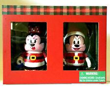"DISNEY VINYLMATION 3"" HOLIDAY 2015 CHRISTMAS MICKEY MINNIE MOUSE SANTA CLAUS SET"