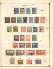 Tunisia Collection from Great 1840-1940 Scott Intern Album