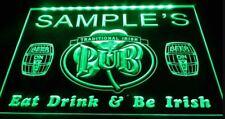 Irish Pub Custom LED Neon Sign Home Light Up Drink Bar Beer Lager Personalised