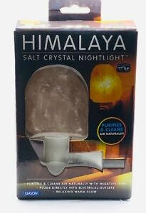 Himalaya Salt Crystal Nightlight Purifies & Cleans Air Naturally