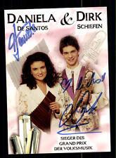 Daniela und Dirk Autogrammkarte Original Signiert ## BC 77283
