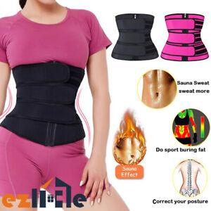 3Belt Waist Trainer Sweat Belt Compression Body Shaper Corset Shapewear Slimming