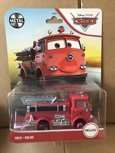 DISNEY CARS DIECAST - Red - The Fire Truck - Deluxe -2021 Card -Combined Postage