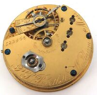 RARE ONLY 20,839 MADE / 1871 WALTHAM P S BARTLETT 10S 15J POCKET WATCH MOVEMENT.