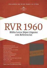 RVR 1960 Biblia Letra Súper Gigante, Gris Piel Fabricada Edición con índice y...