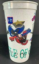 Vintage Plastic Cup 1996 CINCINNATI REDS VS. CLEVELAND INDIANS Battle Of I-75