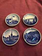 "Farevejle Kirke 3 1/4"" And Three Other Wall Plates, Denmark Numbered"