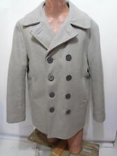 Schott Mens 42 US 740N Gray Wool DB Naval Pea Coat Jacket Made in USA Vintage