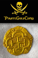 SPAIN 4 ESCUDOS JEWELRY ATOCHA ERA 1621-65 PENDANT PIRATE GOLD COINS TREASURE