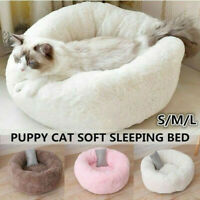 Dog Round Cat Winter Warm Sleeping Bag Long Plush Soft Pet Cave Bed Calming Bed