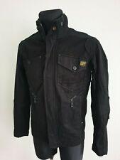 G-Star Raw Mens Jacket Zipper Front Black Size M