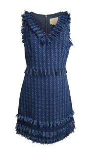 KATE SPADE Jasmeen Blue Madison Avenue Tweed Dress US size 0 RRP £335