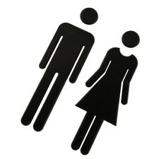 Lavatory Toilet Door Sign Plaque Male Female Bathroom Sign Sticky Acrylic